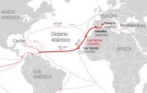 Rutas navegación Atlántico