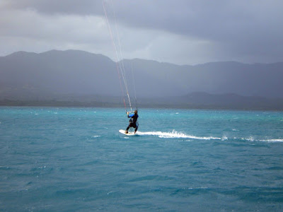 Fotografía haciendo kitesurf