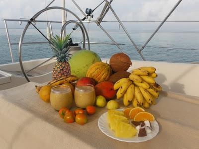 Fotografía de las frutas tropicales