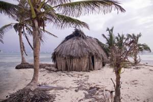Imagen de la casa tradicional en Guna Yala (San Blas)