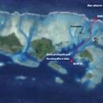 Mapa de los Cayos Holandeses, San Blas