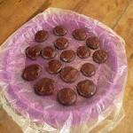 Foto de las pastillas de chocolate listas