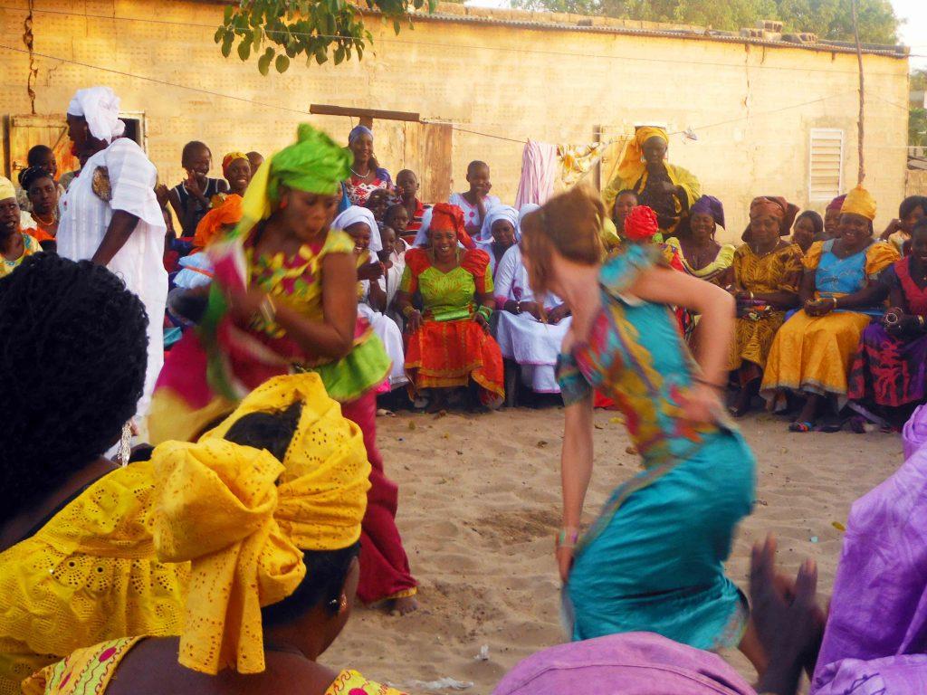 Baile tradicional en Senegal