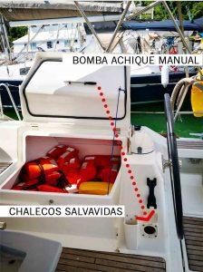 Chaleco salvavidas-velero-alquiler