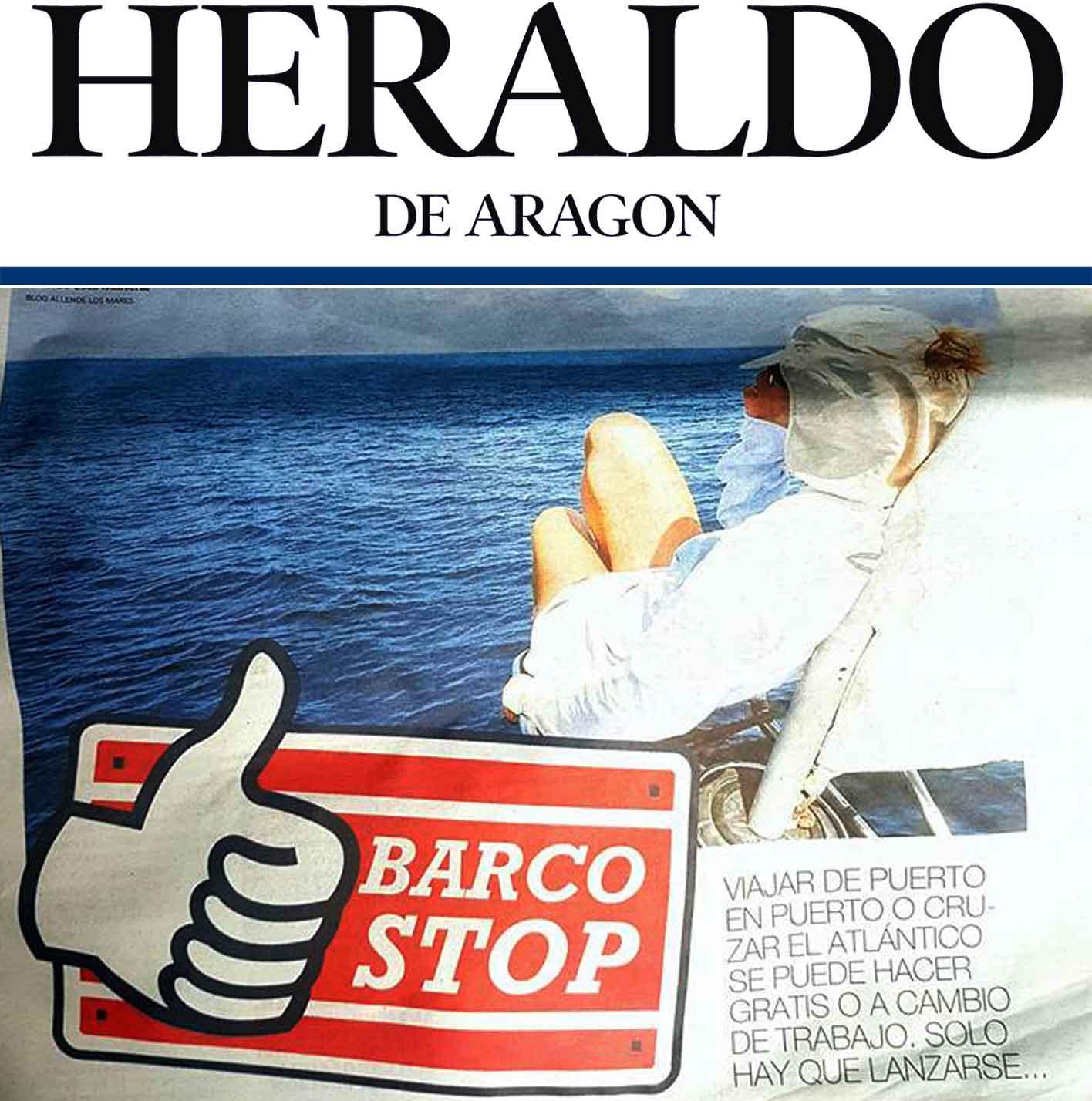 Heraldo de Aragón entrevista a Allende los mares sobre Barcostop