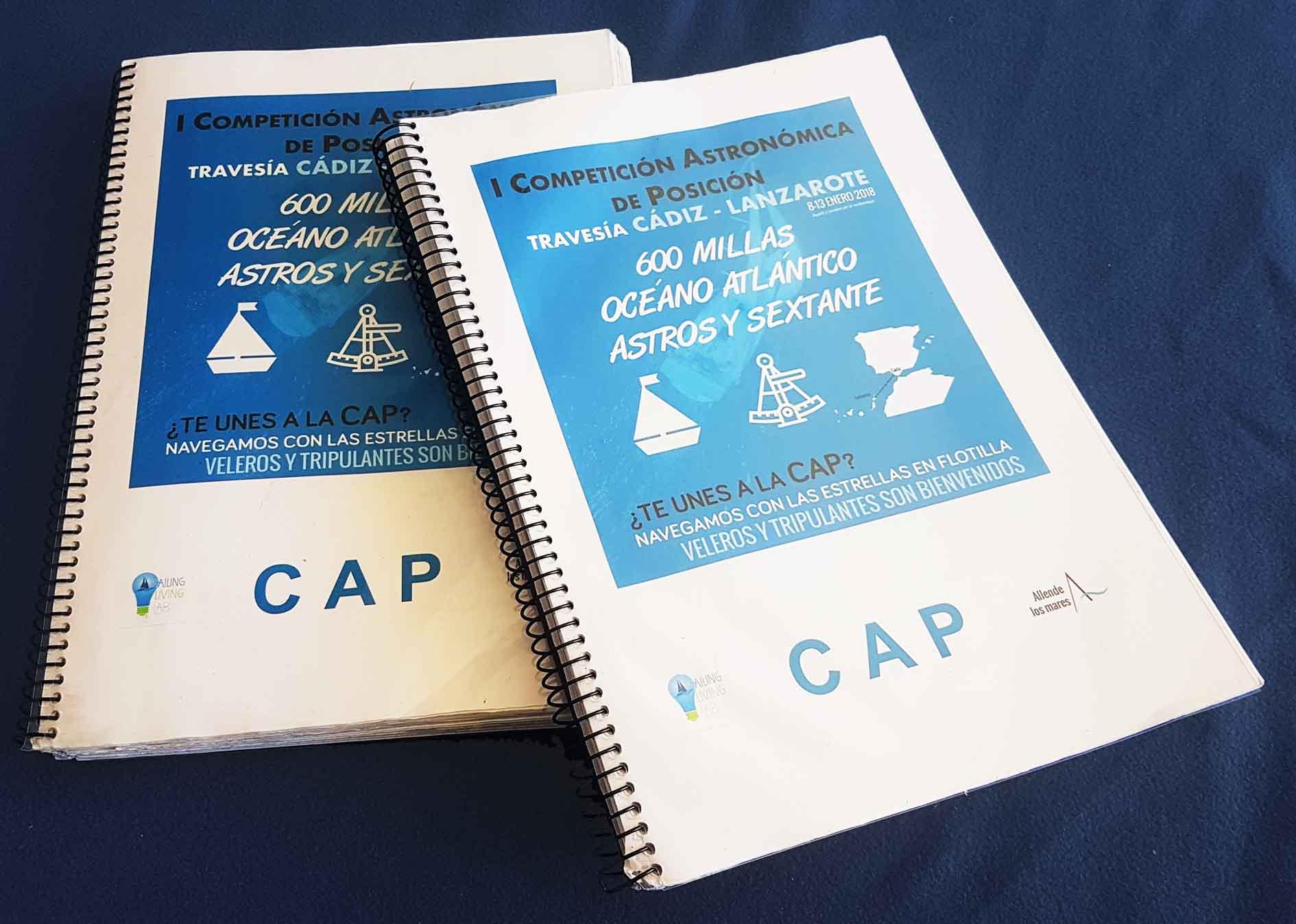 Libretas CAP Competición Astronómica de Posición