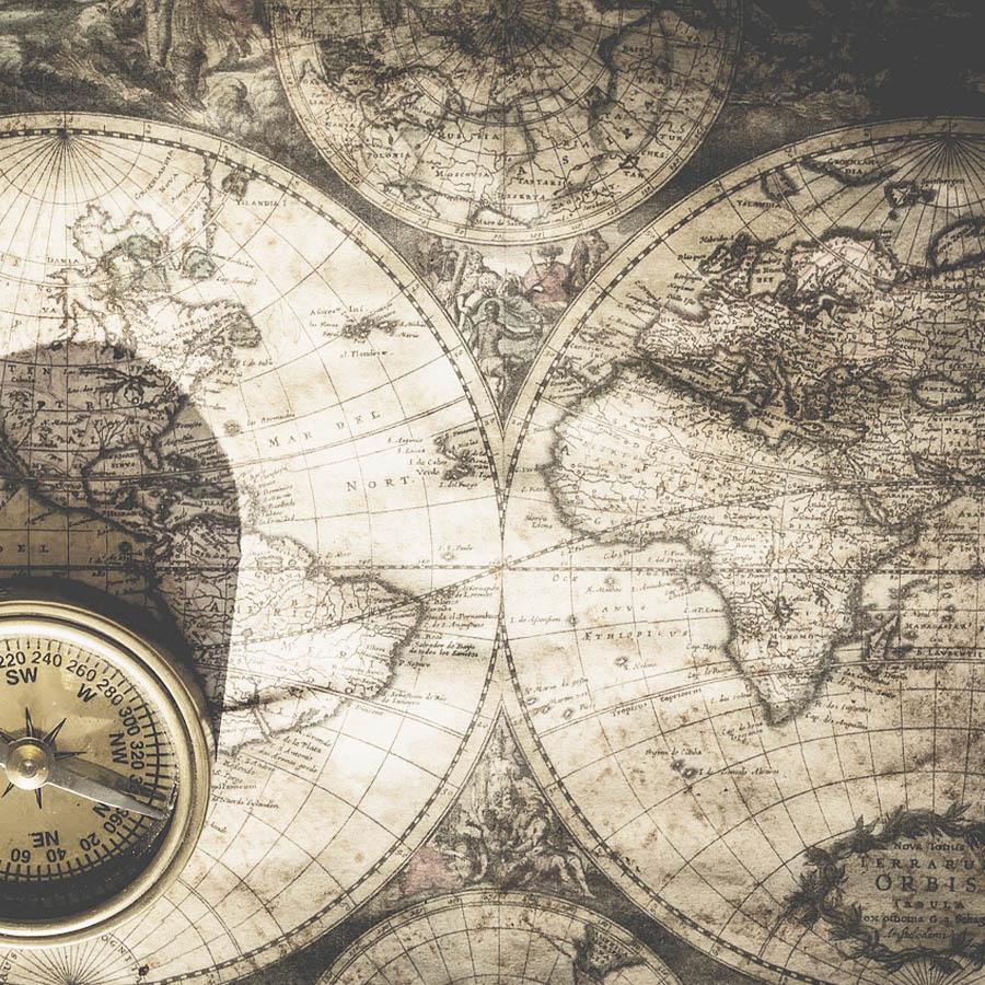 Mapa mundo antiguo