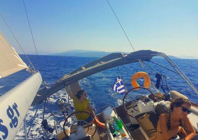 Navegando en Grecia en velero