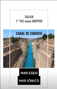 Taller 1ª vez skipper- Grecia-Canal de Corinto-Allende los Mares