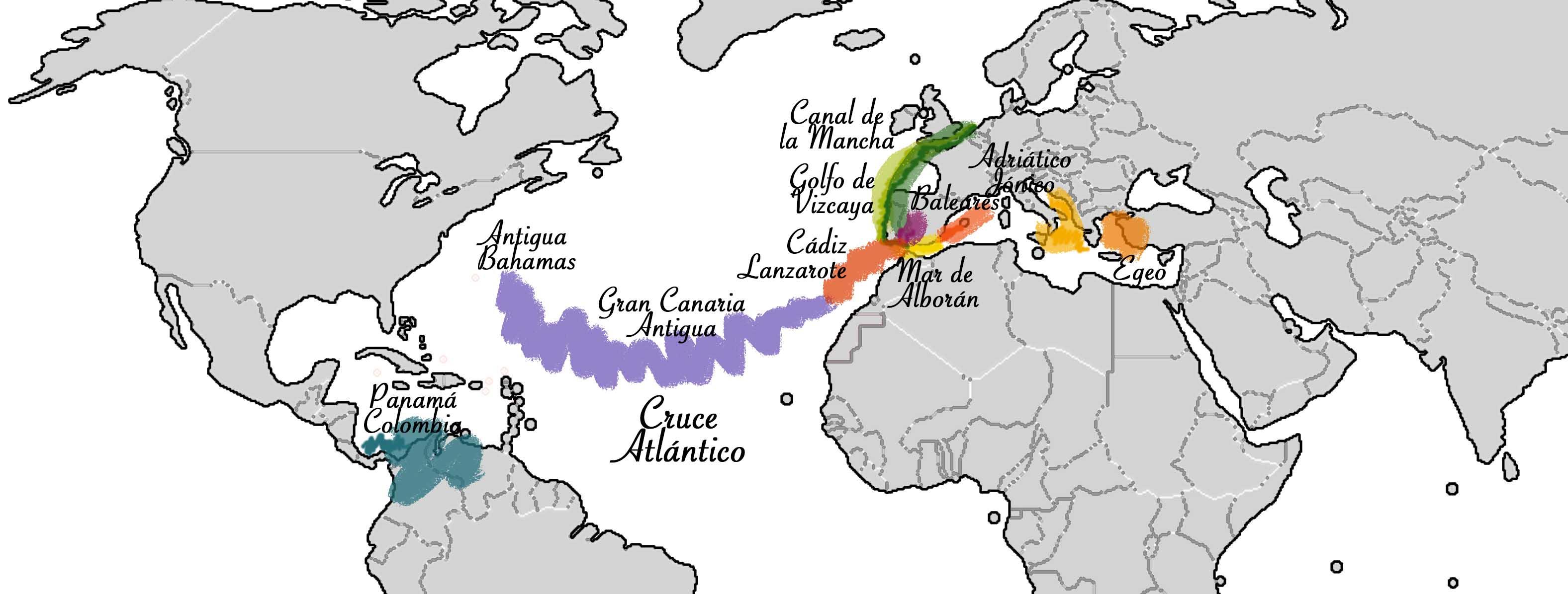 Rutas travesías Allende los mares