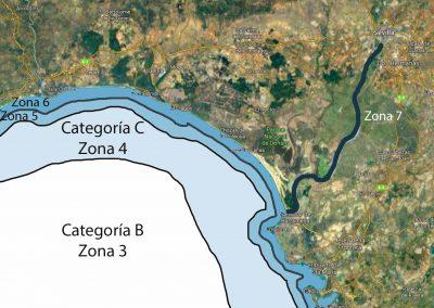 Categoría B, C. Zona de Navegación 3, 4, 5, 6, 7