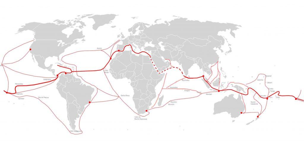 Mapa rutas navegación